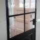 stalen deur laten maken monteren pui modern rustiek minimalistisch zwarte poedercoating metaal staal staalbewerking metaalbewerking vlastech